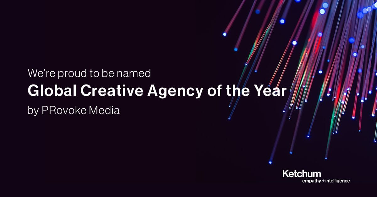 Ketchum Named Global Creative Agency of the Year for Second Consecutive Year